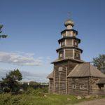Деревянная Тихвинская церковь в Торжке